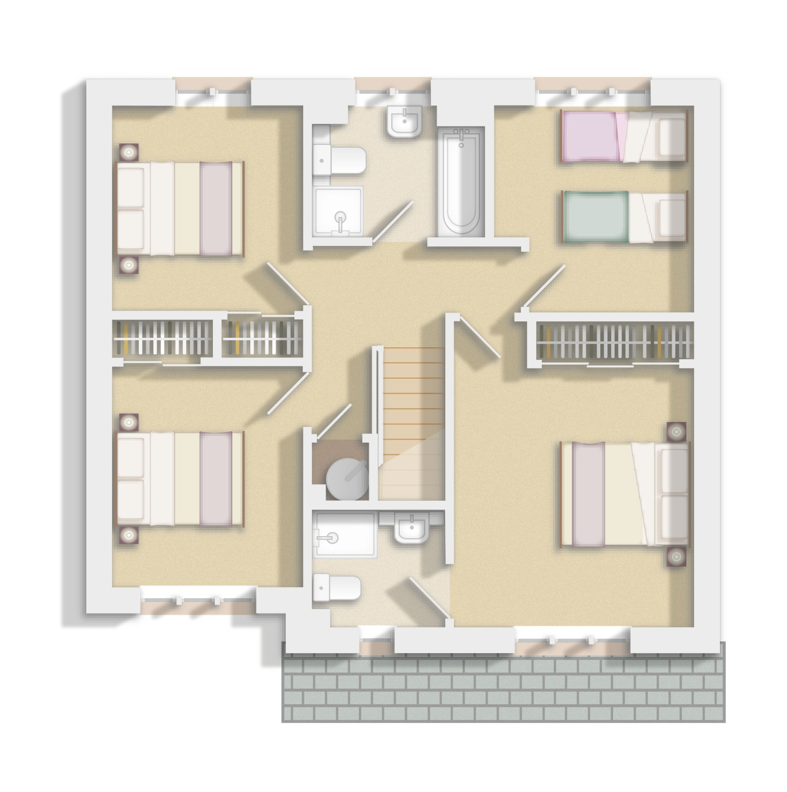 Upper Floor Floorplan