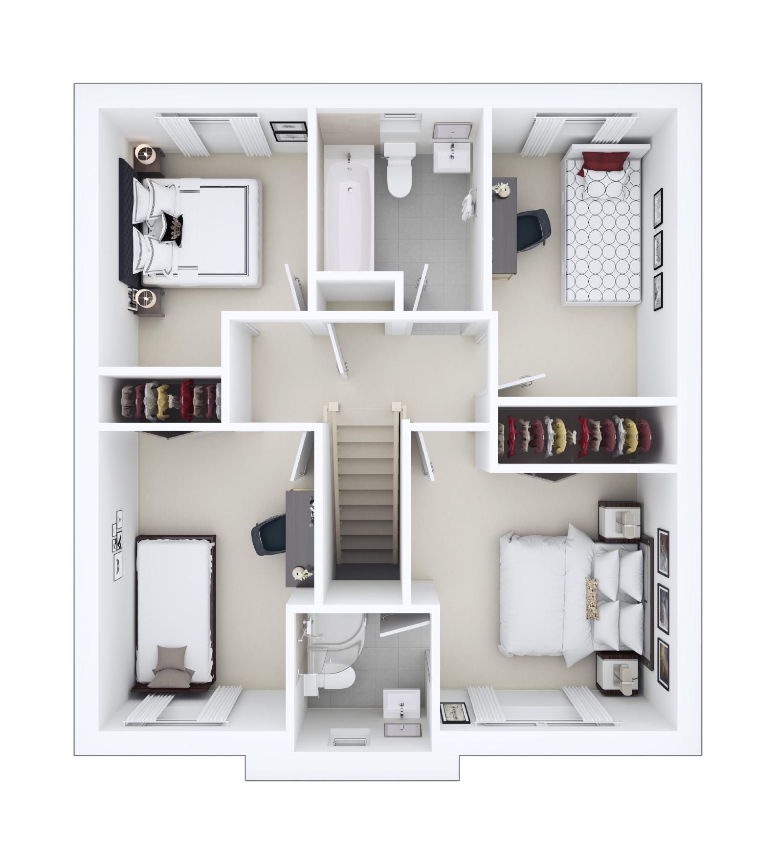 Upper Floor Floorplan