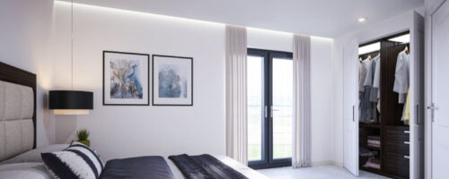 Bright and spacious bedrooms