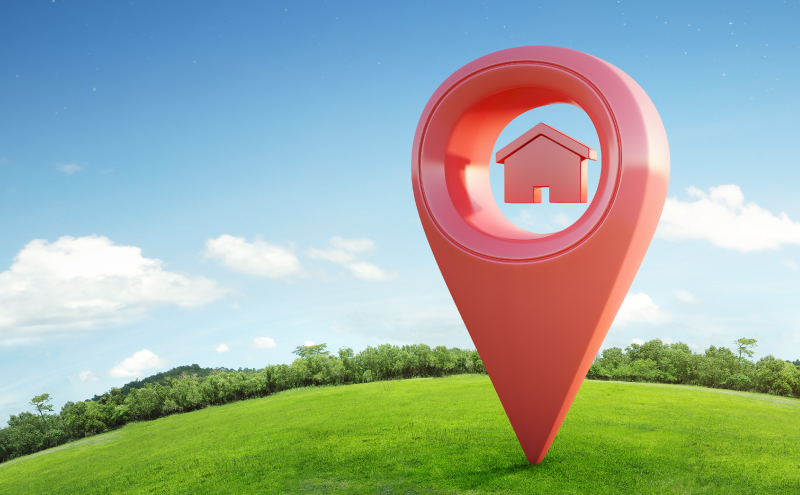 Pinpoint your location of your new home